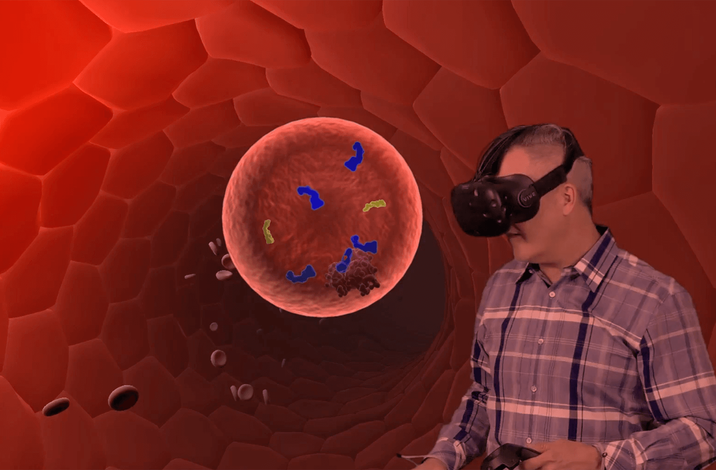 Doctor in VR learning about a medical treatment